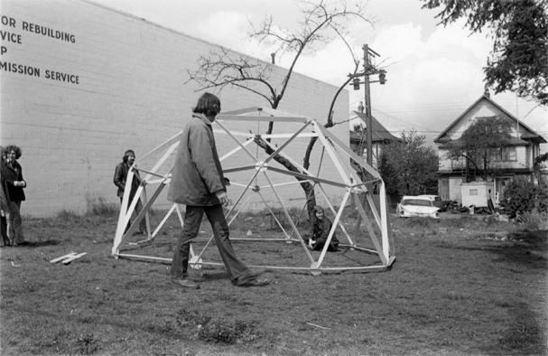 Geodesic Dome construction at 4th and Arbutus