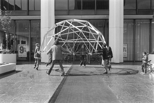 Geodesic Dome construction at the Bentall Center