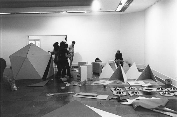 Installing the Dome Show at the Vancouver Art Gallery